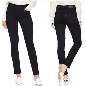 Levis Mid Rise Skinny Black Jeans 16S